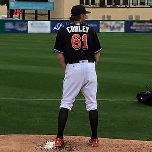 Adam Conley on the mound.