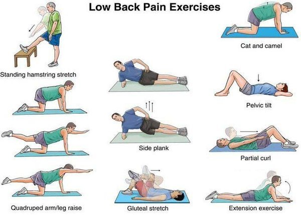 Here are some exercises for back pain relief.